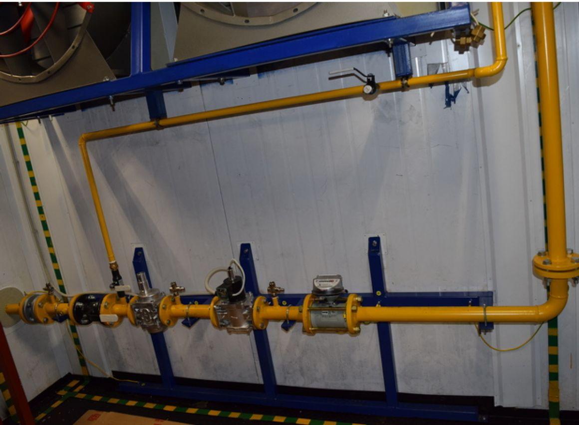 Система газоснабжения (внутренняя обвязка ГПУ)