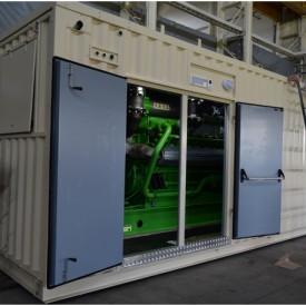 Контейнер с газопоршневой электростанцией GE Jenbacher 316  в контейнере 12000x3000x3000 мм