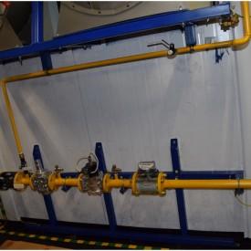Система газоснабжения (внутренняя обвязка ГПУ в контейнере)