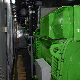 Газопоршневая электростанция GE Jenbacher 316  в контейнере 12000x3000x3000 мм