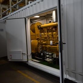 Контейнер 10400х2500х3150 с ДГУ Caterpillar D3512B мощностью 1200 кВт   с повышающим трансформатором